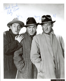THE RITZ BROTHERS - AUTOGRAPHED SIGNED PHOTOGRAPH CO-SIGNED BY: THE RITZ BROTHERS (JIMMY RITZ), THE RITZ BROTHERS (AL RITZ), THE RITZ BROTHERS (HARRY RITZ)