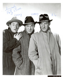 THE RITZ BROTHERS - AUTOGRAPHED SIGNED PHOTOGRAPH CO-SIGNED BY: THE RITZ BROTHERS (JIMMY RITZ)