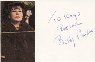 BETTY COMDEN - AUTOGRAPH NOTE SIGNED
