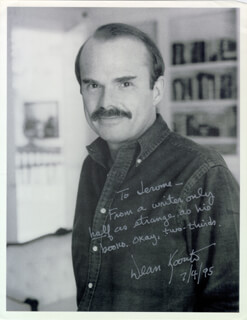 DEAN R. KOONTZ - AUTOGRAPHED INSCRIBED PHOTOGRAPH 06/29/1995