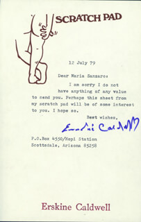 ERSKINE CALDWELL - TYPED LETTER SIGNED 07/12/1979