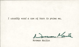 NORMAN MAILER - TYPED QUOTATION SIGNED