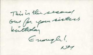 NORMAN MAILER - AUTOGRAPH NOTE DOUBLE SIGNED
