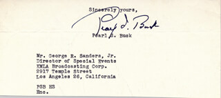 PEARL S. BUCK - FRAGMENT SIGNED