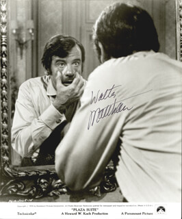 WALTER MATTHAU - AUTOGRAPHED SIGNED PHOTOGRAPH