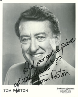 TOM POSTON - PRINTED PHOTOGRAPH SIGNED IN INK