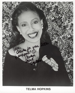 TELMA HOPKINS - INSCRIBED PRINTED PHOTOGRAPH SIGNED IN INK