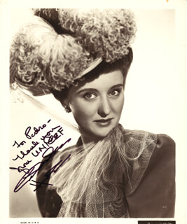 CELESTE HOLM - AUTOGRAPHED INSCRIBED PHOTOGRAPH