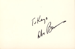 ABE BURROWS - INSCRIBED SIGNATURE