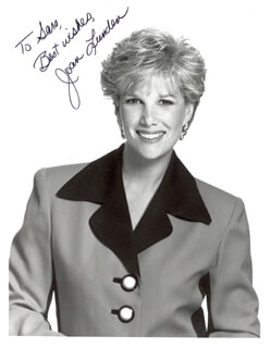 JOAN LUNDEN - AUTOGRAPHED SIGNED PHOTOGRAPH