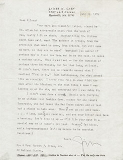 JAMES M. CAIN - TYPED LETTER SIGNED 06/30/1974