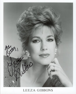 LEEZA GIBBONS - AUTOGRAPHED INSCRIBED PHOTOGRAPH