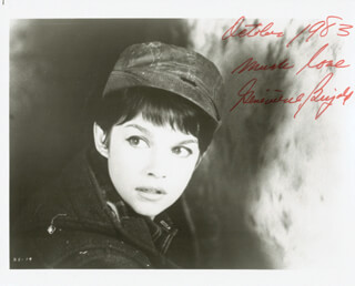GENEVIEVE BUJOLD - AUTOGRAPHED SIGNED PHOTOGRAPH 10/1983