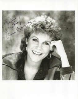 ANNE MURRAY - AUTOGRAPHED INSCRIBED PHOTOGRAPH