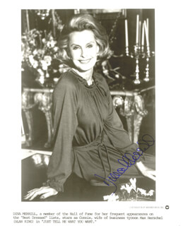 DINA MERRILL - AUTOGRAPHED SIGNED PHOTOGRAPH