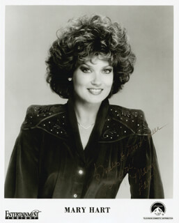 MARY HART - AUTOGRAPH SENTIMENT ON PRINTED PHOTOGRAPH SIGNED