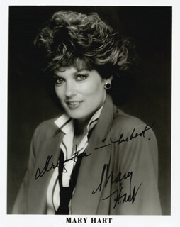 MARY HART - PRINTED PHOTOGRAPH SIGNED IN INK