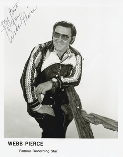 WEBB PIERCE - PRINTED PHOTOGRAPH SIGNED IN INK