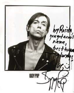 IGGY POP - AUTOGRAPHED INSCRIBED PHOTOGRAPH