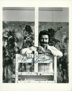 LEROY NEIMAN - AUTOGRAPHED INSCRIBED PHOTOGRAPH 1980