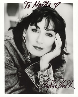 ANJELICA HUSTON - AUTOGRAPHED INSCRIBED PHOTOGRAPH