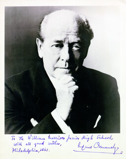 EUGENE ORMANDY - AUTOGRAPHED INSCRIBED PHOTOGRAPH 1961
