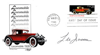 LEE IACOCCA - FIRST DAY COVER SIGNED