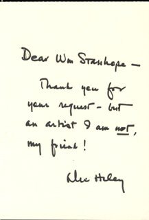 ALEX HALEY - AUTOGRAPH LETTER SIGNED