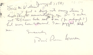 ROBERT PENN WARREN - AUTOGRAPH LETTER DOUBLE SIGNED 01/08/1981