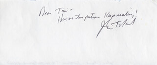 JOHN W. TOLAND - AUTOGRAPH NOTE SIGNED