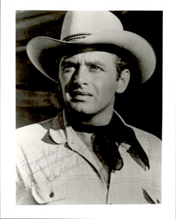 RAND BROOKS - AUTOGRAPHED SIGNED PHOTOGRAPH