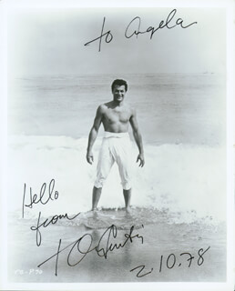 TONY CURTIS - AUTOGRAPHED SIGNED PHOTOGRAPH 02/10/1978