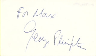 GEORGE PLIMPTON - INSCRIBED SIGNATURE