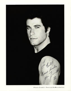 JOHN TRAVOLTA - AUTOGRAPHED INSCRIBED PHOTOGRAPH 1986