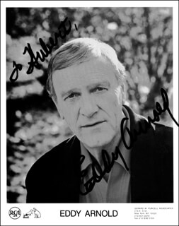 EDDY ARNOLD - AUTOGRAPHED INSCRIBED PHOTOGRAPH