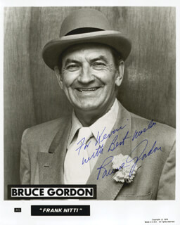 BRUCE GORDON - AUTOGRAPHED INSCRIBED PHOTOGRAPH