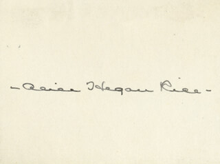 ALICE HEGAN RICE - AUTOGRAPH