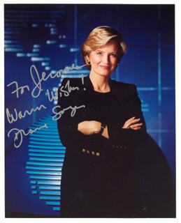 DIANE SAWYER - AUTOGRAPHED INSCRIBED PHOTOGRAPH