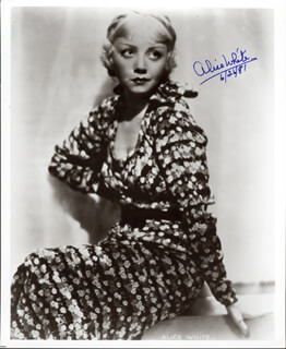 ALICE WHITE - AUTOGRAPHED SIGNED PHOTOGRAPH 06/24/1981
