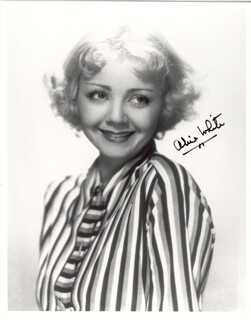 ALICE WHITE - AUTOGRAPHED SIGNED PHOTOGRAPH