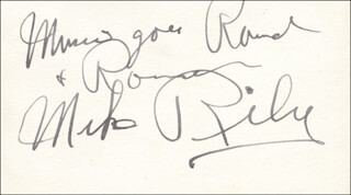 MIKE RILEY - AUTOGRAPH LYRICS SIGNED