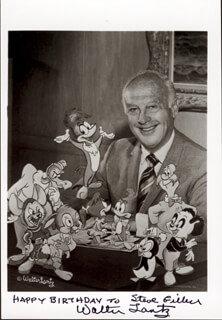 WALTER LANTZ - AUTOGRAPHED INSCRIBED PHOTOGRAPH