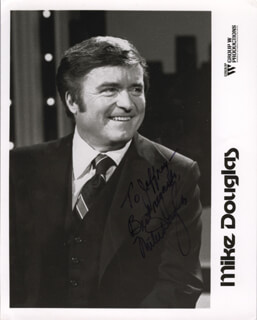 MIKE DOUGLAS - AUTOGRAPHED SIGNED PHOTOGRAPH