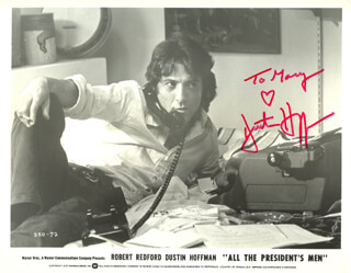 DUSTIN HOFFMAN - INSCRIBED PRINTED PHOTOGRAPH SIGNED IN INK