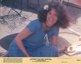 JANE FONDA - INSCRIBED LOBBY CARD SIGNED