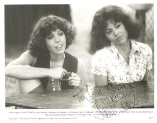 JANE FONDA - AUTOGRAPHED INSCRIBED PHOTOGRAPH