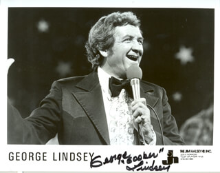 GEORGE LINDSEY - AUTOGRAPHED SIGNED PHOTOGRAPH