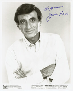 JAMIE FARR - PRINTED PHOTOGRAPH SIGNED IN INK