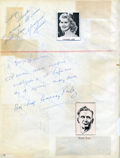 HARRY RUBY - AUTOGRAPH NOTE SIGNED CO-SIGNED BY: YVONNE LIME FEDDERSON, JEANETTE MacDONALD, JOHN RAITT