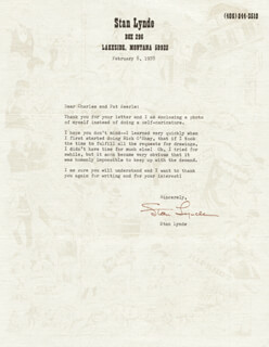STAN LYNDE - TYPED LETTER SIGNED 02/08/1978